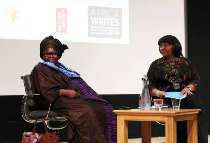 Ama Ata Aidoo y la Dr Wangui Wa Goro en Africa Writes / Estrella Sendra