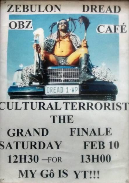 Dread, Cultural Terorist