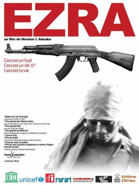Cartel de la película Ezra dirigida por el director nigeriano Newton Aduaka.