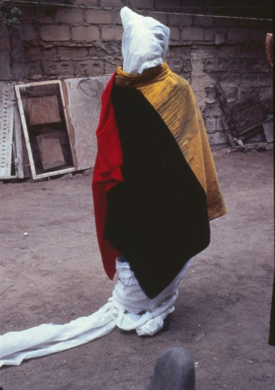 Performance del Laboratorio AGIT'art, Dakar, 1989. Fotografía: El Sy