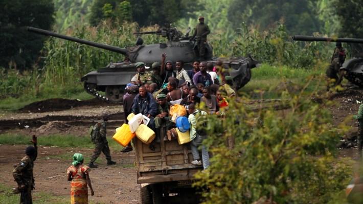 En pleno rodaje del documental el equipo vivió en primera línea el conflicto armado entre el ejercito congoleño y el grupo rebelde M23 /virungamovie.com
