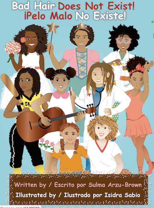 """Imagen de """"Pelo malo no existe"""", de Sulma Arzu-Brown. Fuente: web del proyecto: www.nopelomalo.com/"""