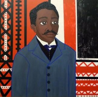 Un retrato de Gabino Ezeiza realizado por la artista plástica Mirta Toledo.