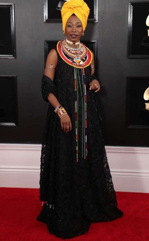 Fatoumata Diawara en la 61ª edición de los Premios Grammy