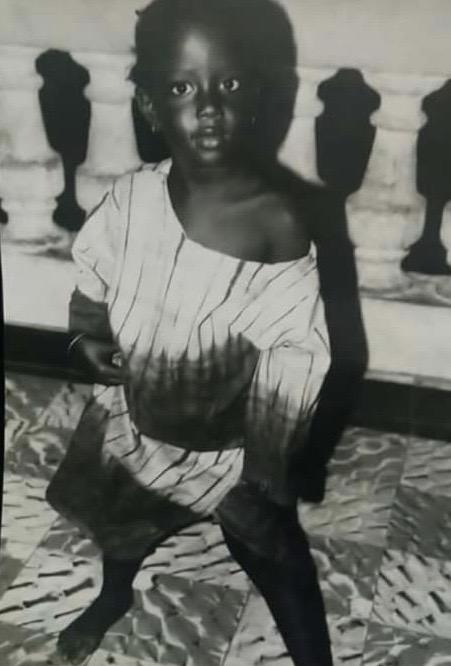 Aida Diop con tres años. (Foto: Abdoulaye Thioune)