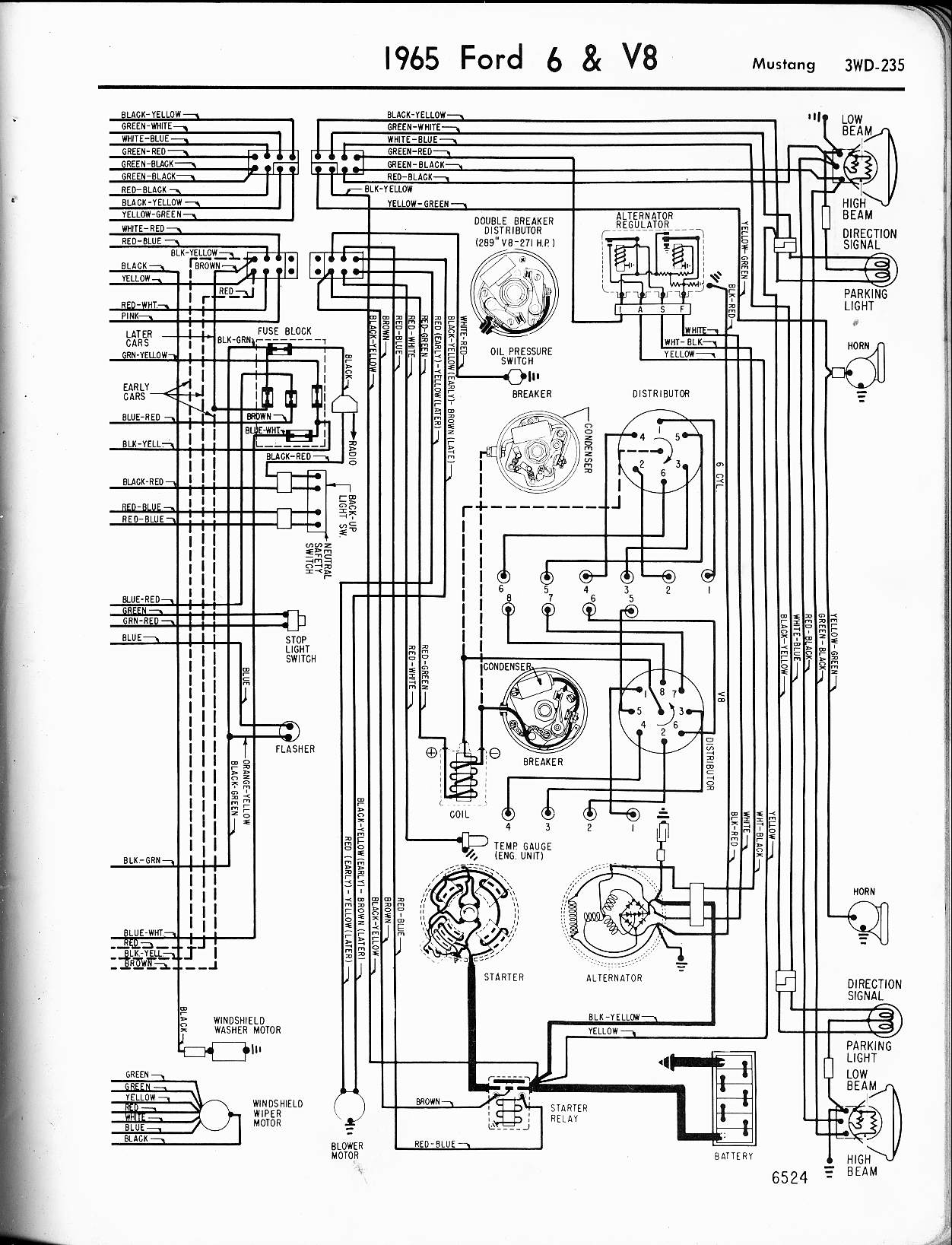 Ford Galaxie Color Wiring Diagram