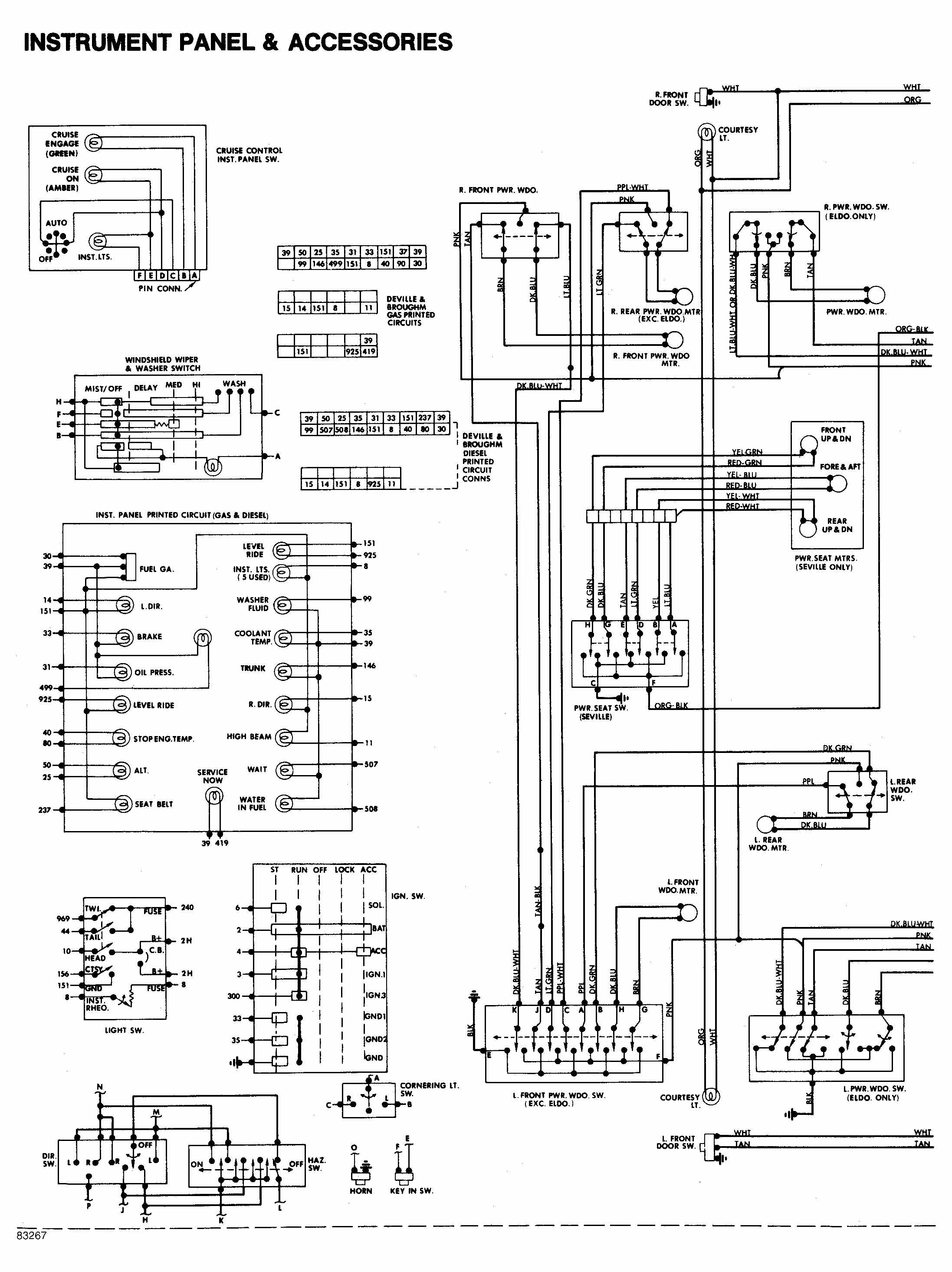 Wiring Diagram Cadillac Power Seat