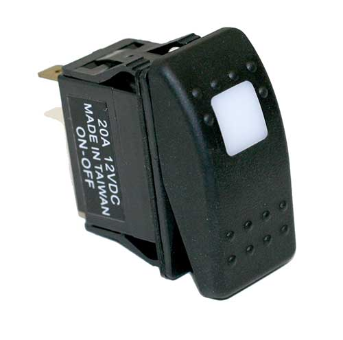20 Amp 12 Volt S P S T Momentary Carling Style Rocker