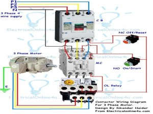 Wiring Diagram Single Phase Motor Contactor  Wiring Forums