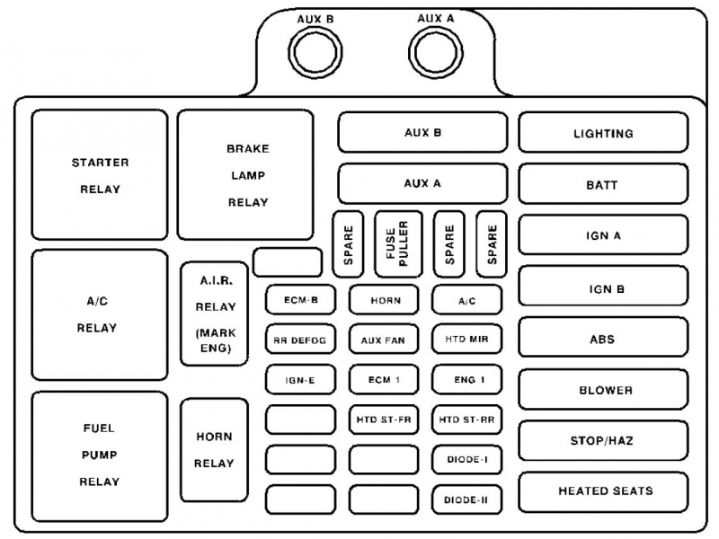 2000 Gmc Sierra Fuse Box Diagram  Wiring Forums