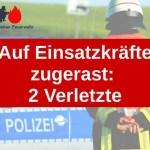 Auf Einsatzkräfte zugerast: 2 Verletzte
