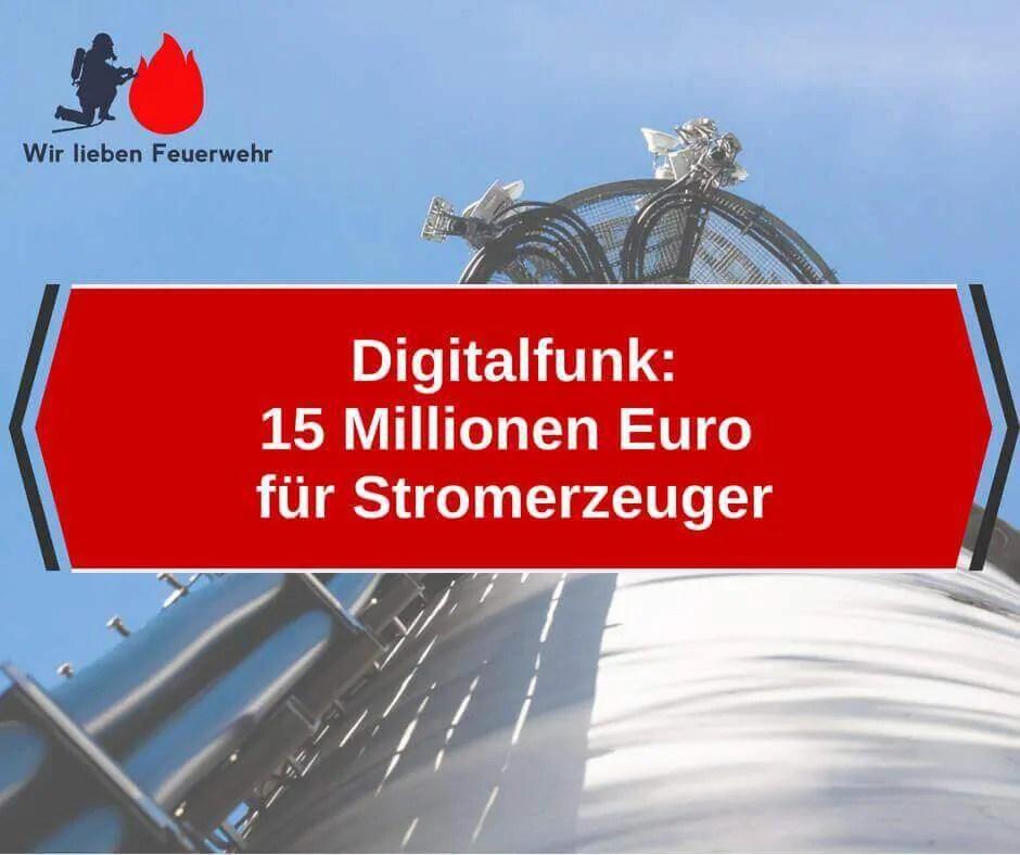 Digitalfunk 15 Millionen Euro für Stromerzeuger