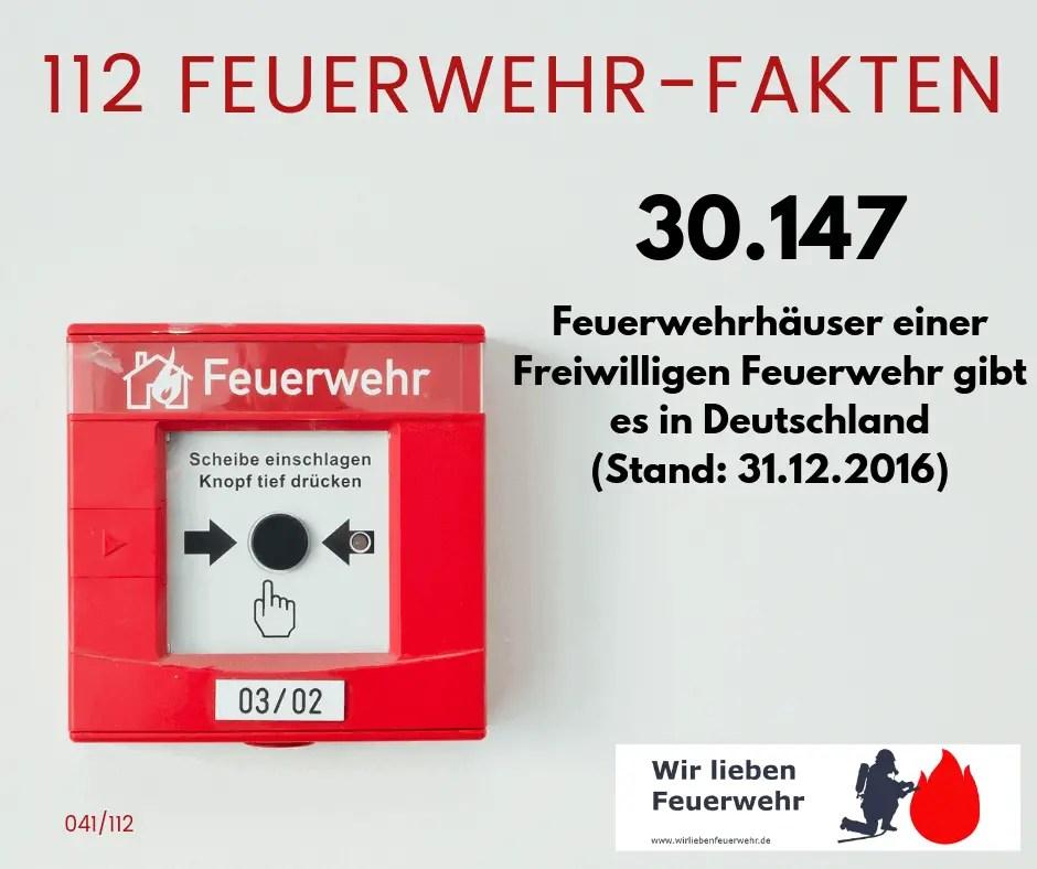 30.147 Feuerwehrhäuser einer Freiwilligen Feuerwehr gibt es in Deutschland.