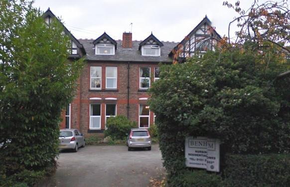 Benham Nursing and Residential Home in Bromborough. Picture: Google Maps.