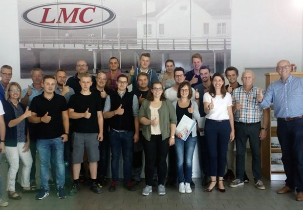 Die Auszubildenden freuen sich auf eine spannende Zukunft bei LMC