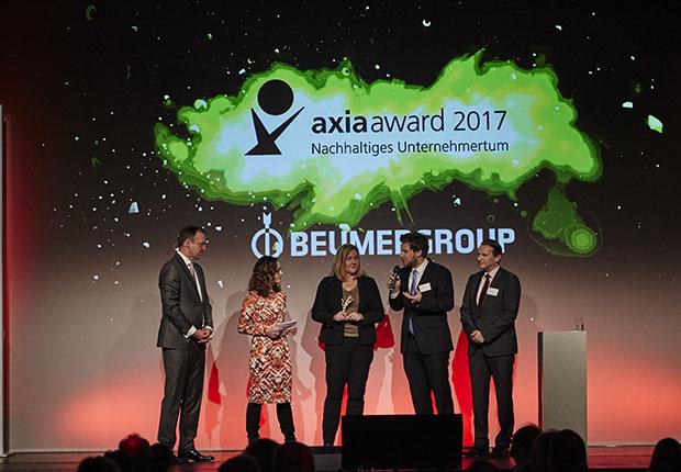 Prüfungs- und Berattungsgesellschaft Deloitte zeichnete die BEUMER Group für ihre Aktivitäten im Bereich Digitale Transformation mit dem Axia Award aus.