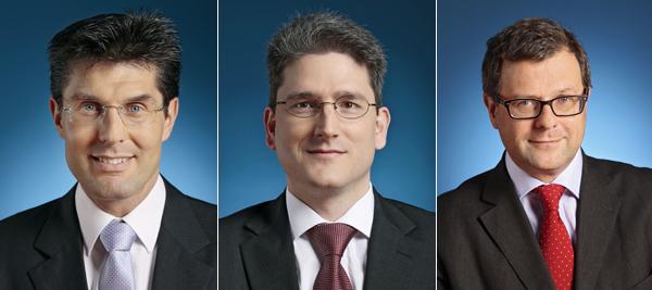 Günter Bauer, Kurt Retter und Georg Kresbach