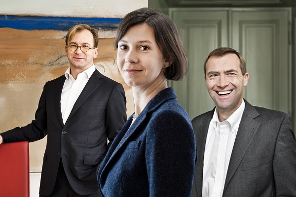hba Bernhard Astner, Elke Kopper und Dieter Hutter
