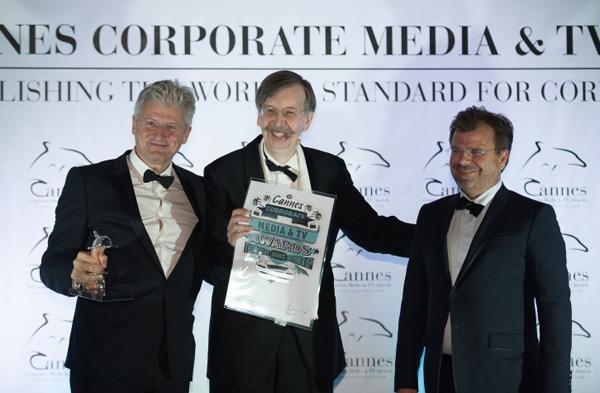 Dr. Franz Mittendorfer (SCWP Schindhelm), Alexander V. Kammel (Gründer der Cannes Corporate Media & TV Awards), Dr. Wolfgang Lauss (SCWP Schindhelm)