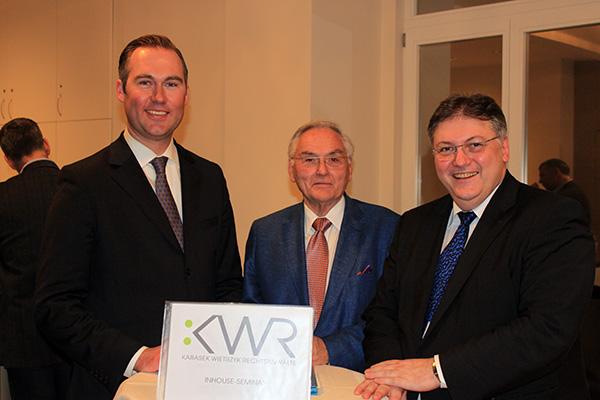 Dr. Konstantin Köck (KWR), Prof. Dr. Alfred Radner, Univ.-Prof. Dr. Wolfgang Radner (beide Österr. Gesellschaft für Medizinrecht)