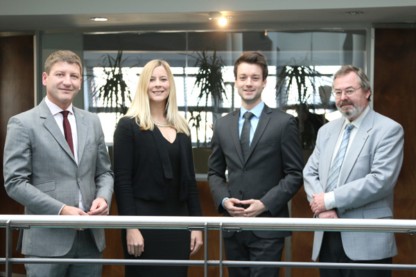 Das PHH Immo-Team mit Stefan Prochaska, Julia Peier, Lukas-Sebastian Swoboda und Michael Kutis