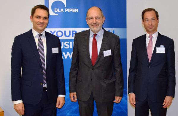 Beim Corporate Eveneing Russia: Steffen Kaufmann, Michael Angerer und David Christian Bauer