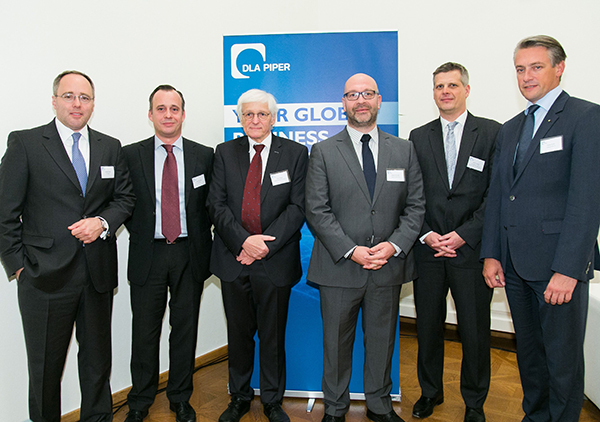 Konrad Rohde (DLA Piper Frankfurt), Franz Althuber (DLA Piper Wien), Franz Reger (BMF), Stefan Schuster (Telekom Austria Group), Ulrich Torggler (Universität Wien), Rainer Borns (Volksbank Wien AG)