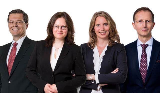 fwp-Partner Paul Luiki, Rechtsanwältin Veronika Seronova, Associate Helene Rohrauer und Rechtsanwalt Peter Stiegler.