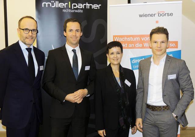 Florian Hutzl, Gerot Wilfling, Silvia Wendecker und Wolfgang Deutschmann