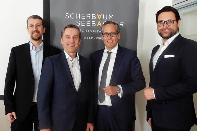 Christian Kurz, Peter Hadl (beide PwC Austria), Clemens Jaufer (ScherbaumSeebacher), Patrick Göschl (PwC Austria)