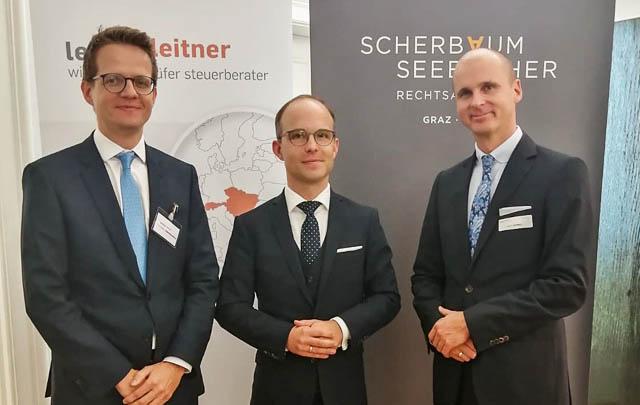 Christian Oberhumer, CVA (Partner bei LeitnerLeitner), Dr. Gerold Oberhumer, Mag. Helmut Schmidt, LL.M. (beide Partner der ScherbaumSeebacher Rechtsanwälte)