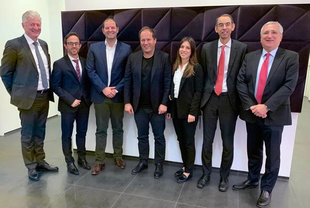Franz Mittendorfer (SCWP), Leopold Strohmayr (INVEST AG), Philipp Schupfer (INVEST AG), Hans-Jörg Holleis (System 7), Karoline Mokesch (SCWP), Thomas Haberer (KWR), Gerold Wietrzyk (KWR)
