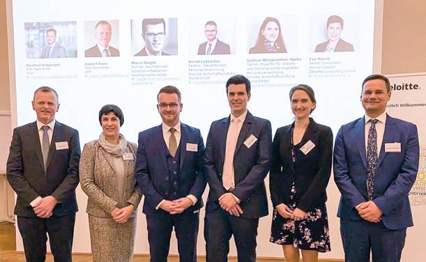 Hubert Paier (BMF), Eva Novak, Bernd Luxbacher (beide Deloitte), Marco Riegler (ScherbaumSeebacher), Gudrun Wiespointner-Njoku (Deloitte), Manfred Ausperger (ÖGK)