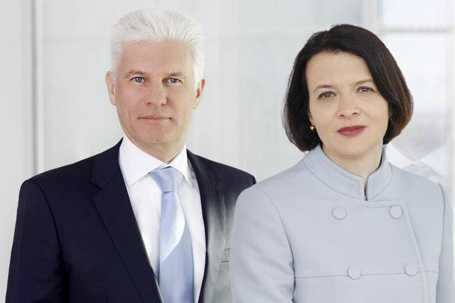 Bernhard Schatz und Elke Napokoj, beide bpv Huegel