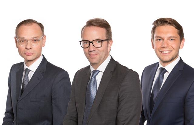 Albert Birkner, Wolfgang Sindelar und Jakob Weber
