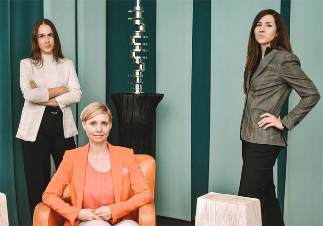 Theresa Karall, Stefanie Werinos-Sydow und Sandra Kasper