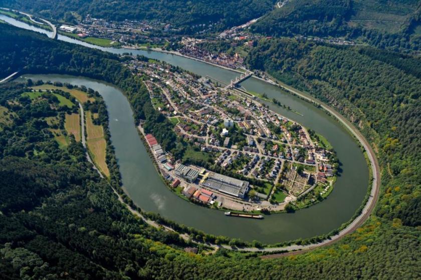 Hirschhorn Luftbild Gewerbegebiet