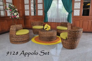 9128 Apollo Rattan Living Set