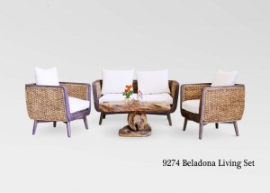 Belladona Rattan Living Set