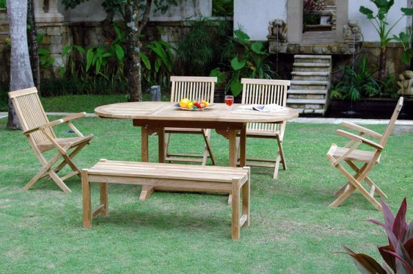 Oval Outdoor Benches Wisanka