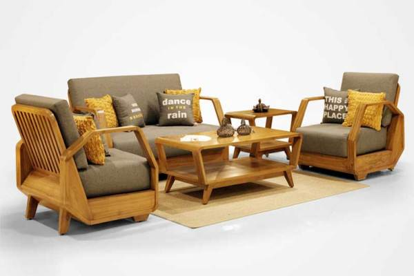 Kinanti teak Guest Chairs living furniture, Indonesia teak furniture wholesale