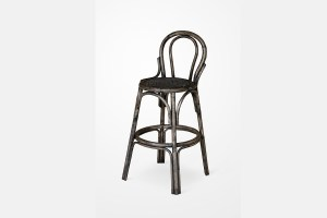 Cufie Rattan Bar Stool Black, rattan furniture indonesi, indonesia rattan