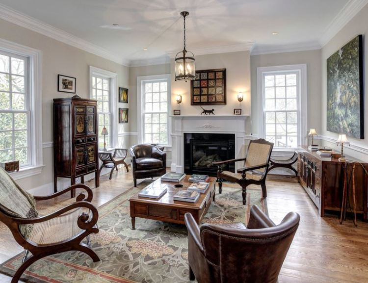 Interior British Style Furniture In Living Room