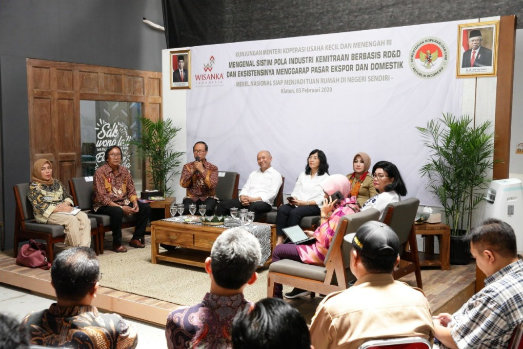 Indonesian Minister For SME Visit To Wisanka Furniture