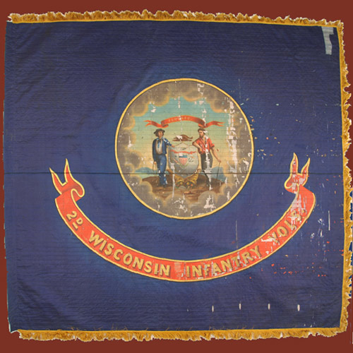 2nd Wisconsin Infantry battle flag