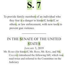 NRA's Red Flag Gun Seizure Bill in U.S. Senate TODAY!