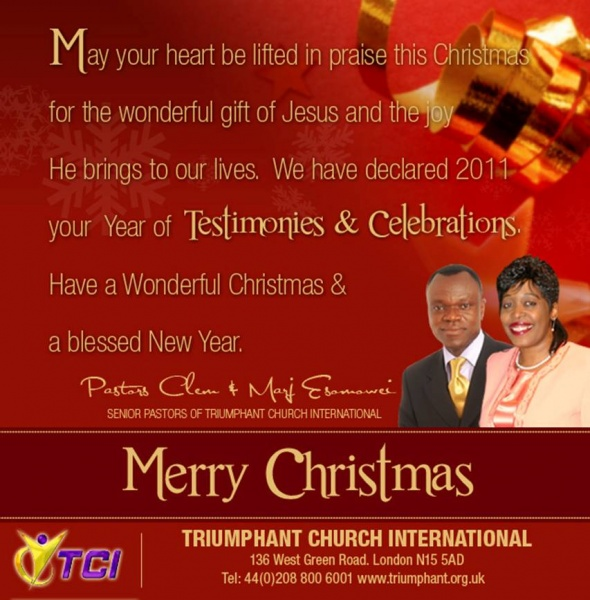 Merry Christmas From Pastor Clem Amp Marj Esomowei Wisdom