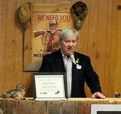 Rob Kieckhefer, former board President and Chairman, accepts his Hall of Fame nomination