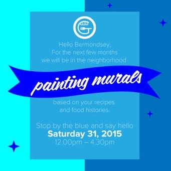 Painting Murals Blue Bermondsey