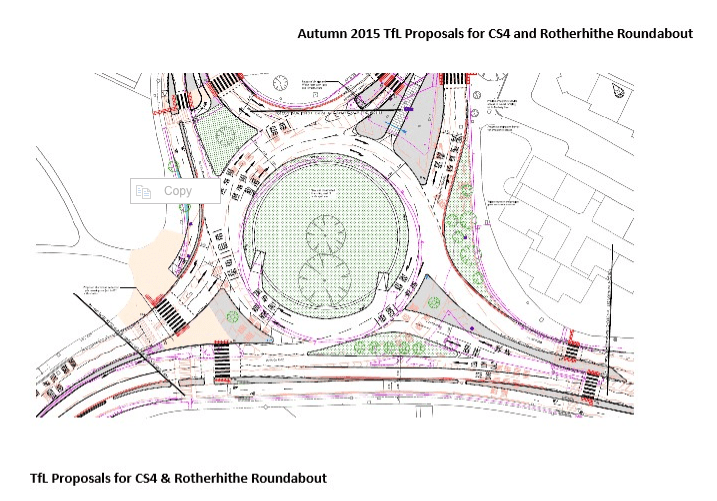 Tfl Proposal for CS4 Rotherhithe Roundabout